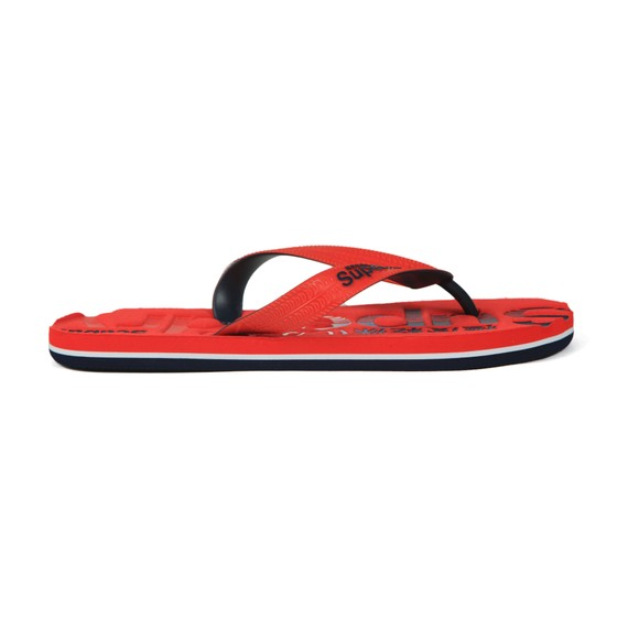 Superdry Mens Red Scuba Flip Flop