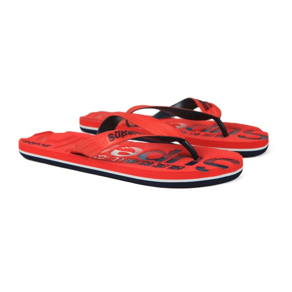 Superdry Mens Red Scuba Flip Flop