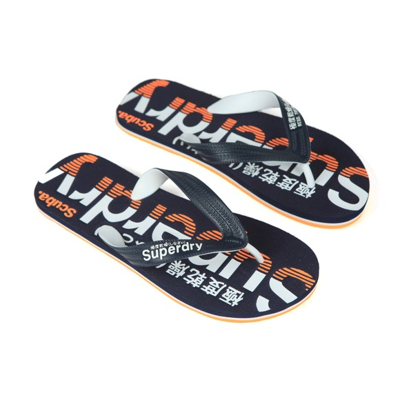 Superdry Mens Blue Scuba Flip Flop main image