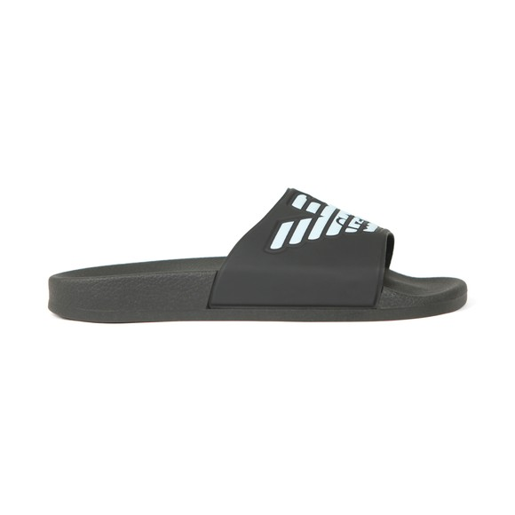 Emporio Armani Mens Black Eagle Logo Slides