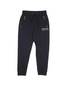BOSS Bodywear Mens Blue Small Logo Zip Pocket Track Jogger