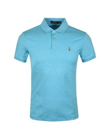 Polo Ralph Lauren Mens Blue Slim Fit Pima Polo Shirt