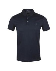 Polo Ralph Lauren Mens Blue Custom Slim Fit Feeder Polo Shirt
