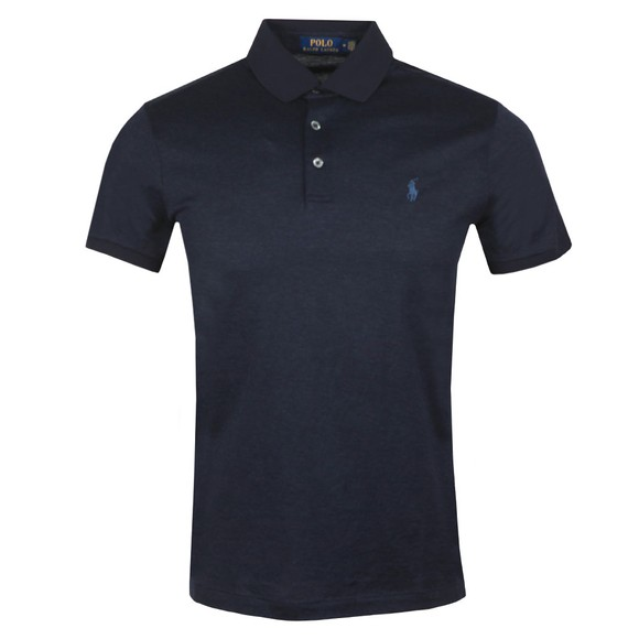 Polo Ralph Lauren Mens Blue Custom Slim Fit Feeder Polo Shirt