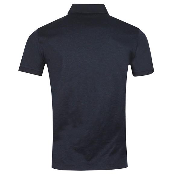 Polo Ralph Lauren Mens Blue Custom Slim Fit Feeder Polo Shirt main image