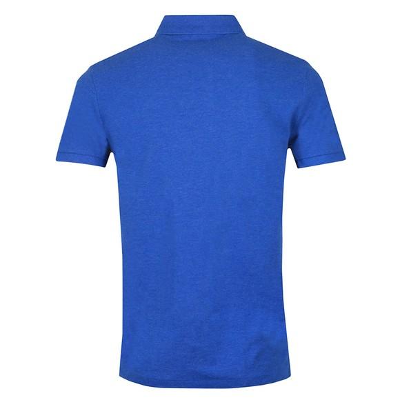 Polo Ralph Lauren Mens Dockside Blue Heather Custom Slim Fit Short Sleeve Polo Shirt main image
