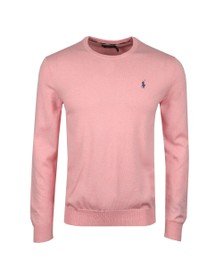 Polo Ralph Lauren Mens Pink Crew Neck Cotton Knitted Jumper