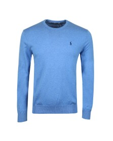 Polo Ralph Lauren Mens Blue Crew Neck Cotton Knitted Jumper