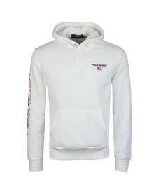 Polo Ralph Lauren Sport Mens White Logo Overhead Hoody
