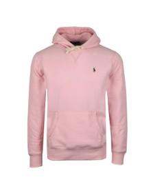 Polo Ralph Lauren Mens Pink Overhead Fleece Hoody