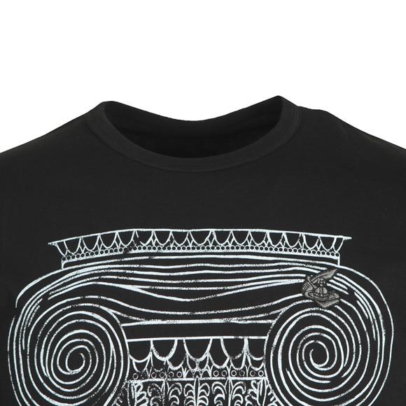 Vivienne Westwood Anglomania Mens Black Classic T-Shirt Pillar Print T-Shirt