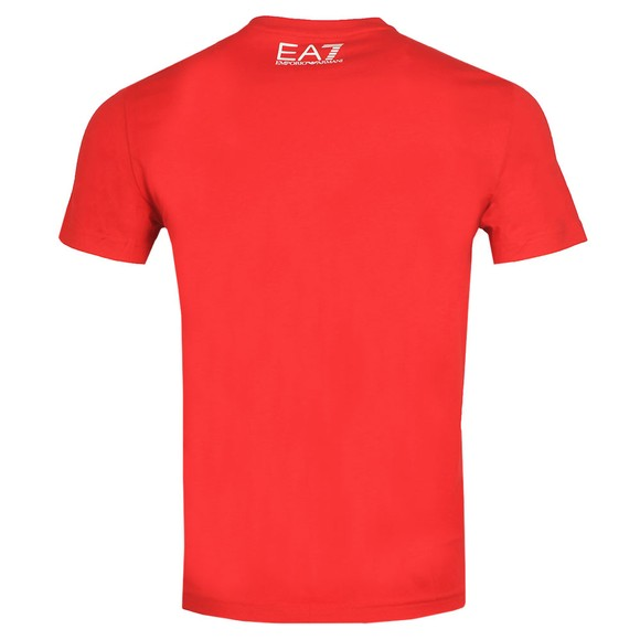 EA7 Emporio Armani Mens Red Big Logo T-Shirt main image