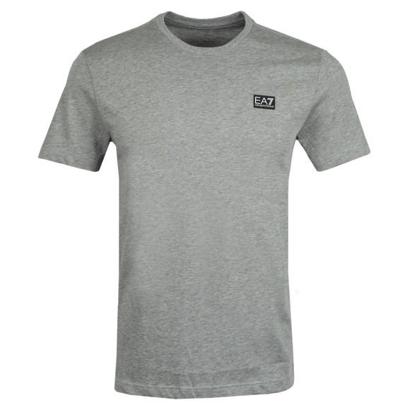 EA7 Emporio Armani Mens Grey Small Logo T-Shirt