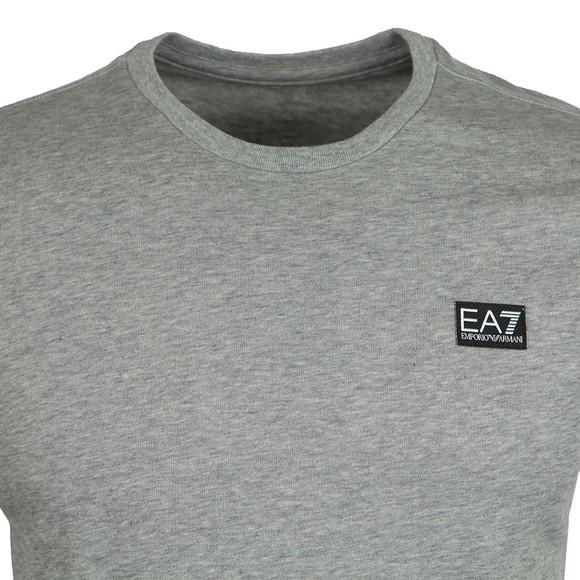 EA7 Emporio Armani Mens Grey Small Logo T-Shirt main image