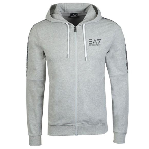 EA7 Emporio Armani Mens Grey Full Zip Hooded Sweatshirt main image
