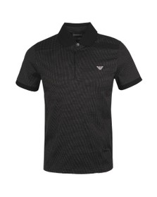 Emporio Armani Mens Black Micro Dot Polo Shirt