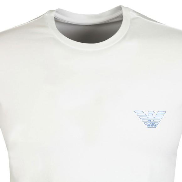 Emporio Armani Mens White Outline Logo Stretch T Shirt main image