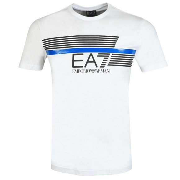 EA7 Emporio Armani Mens White Logo T-Shirt