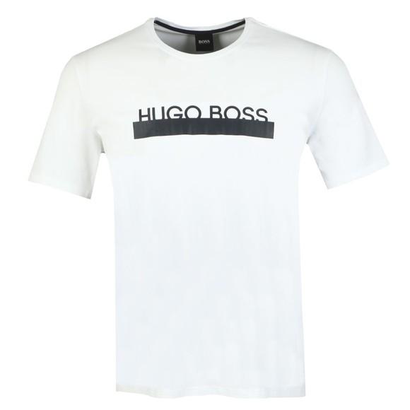 BOSS Bodywear Mens White Identity Centre Logo T-Shirt