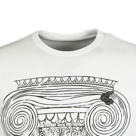 Vivienne Westwood Anglomania Mens White Classic T-Shirt Pillar Print T-Shirt