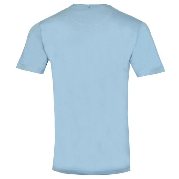 Pretty Green Mens Blue Paisley Chest Embroidery T-Shirt main image