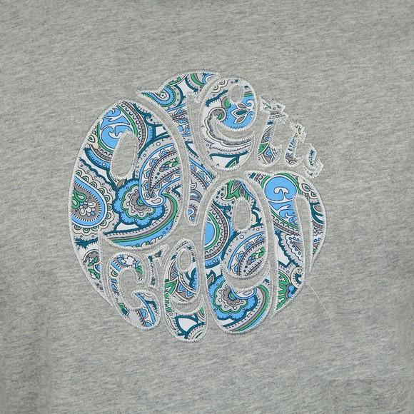 Pretty Green Mens Grey Paisley Applique T-Shirt main image