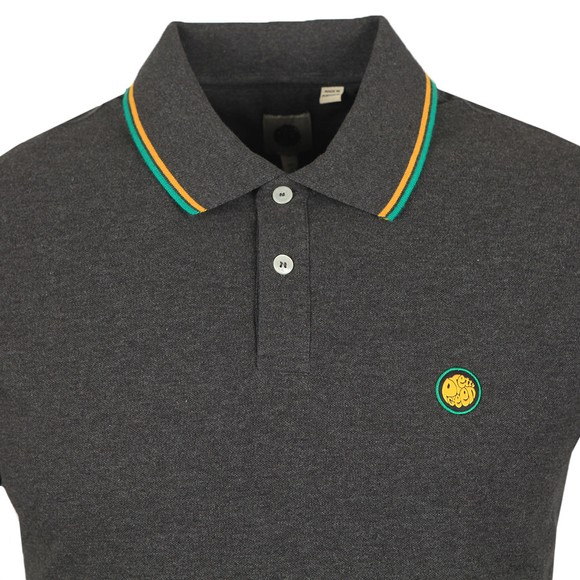 Pretty Green Mens Grey Tipped Polo Shirt main image