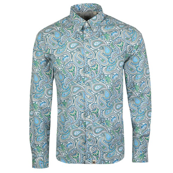 Pretty Green Mens Green Paisley Print Shirt
