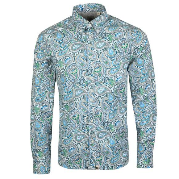 Pretty Green Mens Green Paisley Print Shirt
