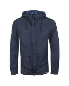 Pretty Green Mens Blue Zip Though Nylon Hooded Jacket