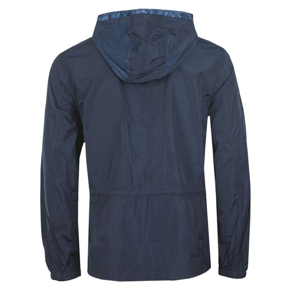 Pretty Green Mens Blue Zip Though Nylon Hooded Jacket main image