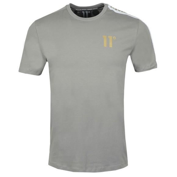 Eleven Degrees Mens Silver Asymetric T-Shirt main image