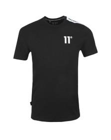 Eleven Degrees Mens Black Asymetric T-Shirt