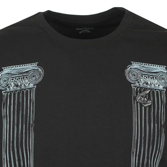 Vivienne Westwood Anglomania Mens Black Boxy Pillar Print T-Shirt