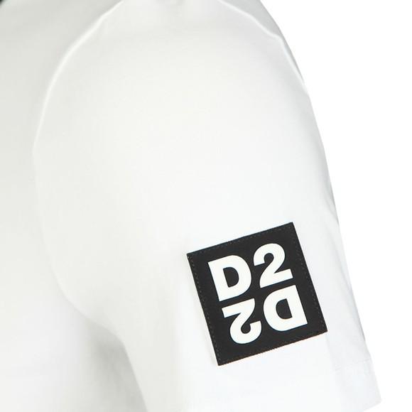 Dsquared2 Mens White D2D2 Arm T-Shirt main image