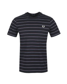 Fred Perry Mens Blue Fine Stripe T-Shirt