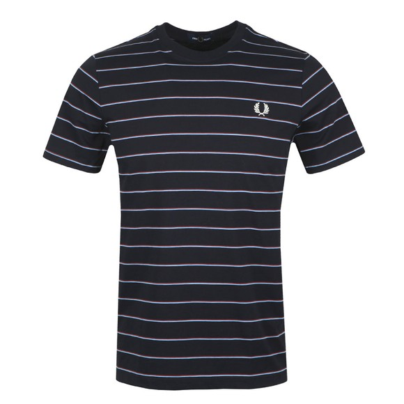 Fred Perry Mens Blue Fine Stripe T-Shirt main image