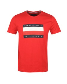 Tommy Hilfiger Mens Red Corp Stripe Box T-Shirt