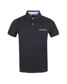 Tommy Hilfiger Mens Blue Pocket Detail Slim Polo Shirt