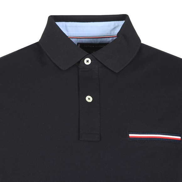 Tommy Hilfiger Mens Blue Pocket Detail Slim Polo Shirt