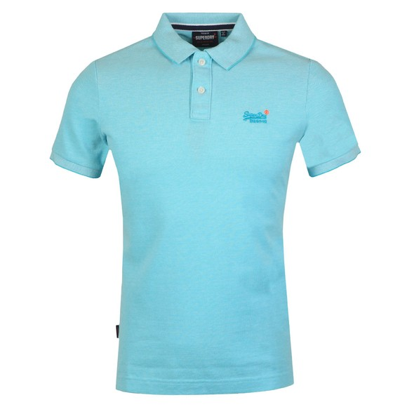 Superdry Mens Turquoise Classic Pique Polo Shirt