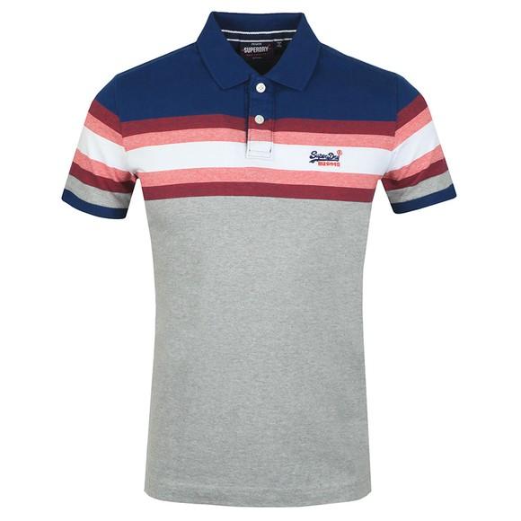 Superdry Mens Blue Malibu Stripe Polo Shirt