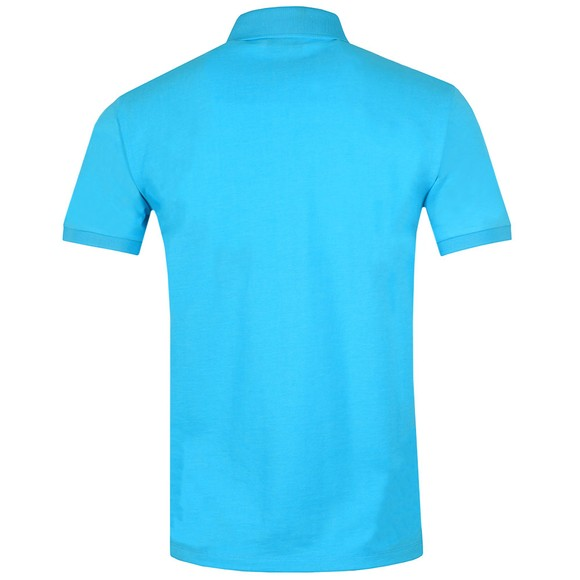 Emporio Armani Mens Blue Reflective Box Logo Polo Shirt main image