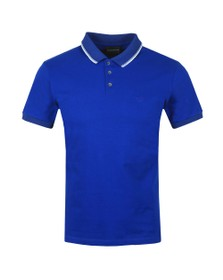 Emporio Armani Mens Blue Tipped Polo Shirt