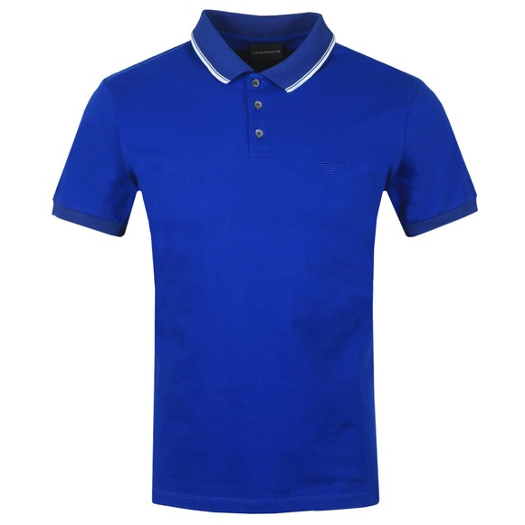 Emporio Armani Mens Blue Tipped Polo Shirt