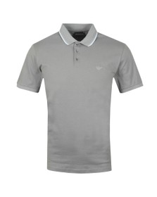 Emporio Armani Mens Grey Tipped Polo Shirt