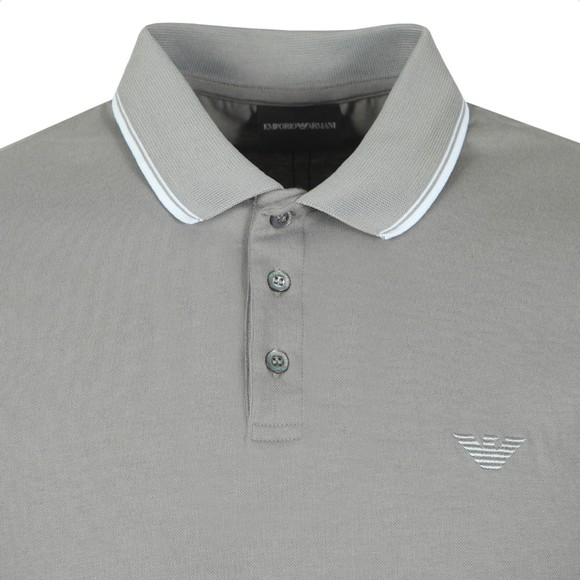 Emporio Armani Mens Grey Tipped Polo Shirt main image