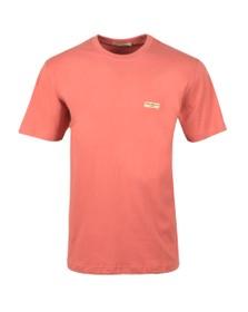 Nudie Jeans Mens Pink Daniel Logo T Shirt