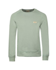 Nudie Jeans Mens Green Samuel Logo Sweatshirt