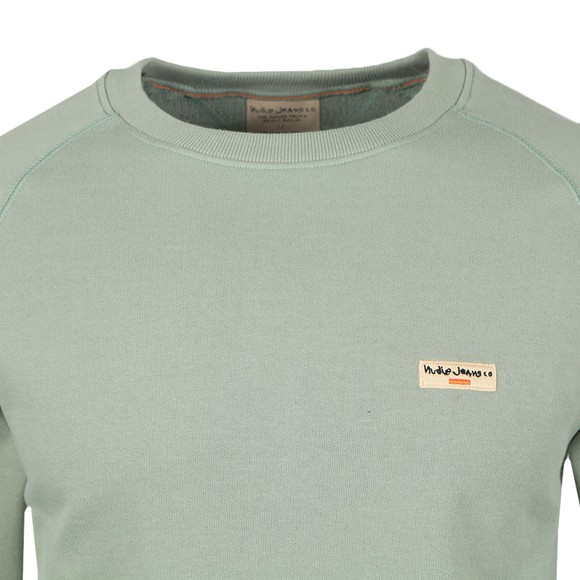 Nudie Jeans Mens Green Samuel Logo Sweatshirt main image